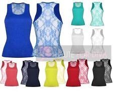 Unbranded Women's Stretch Sleeveless Waist Length Tops & Shirts