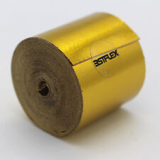 Gold Foil Heat Insulating Tape Hose Wrap Reflective Shield Adhesive 25mm x 10m