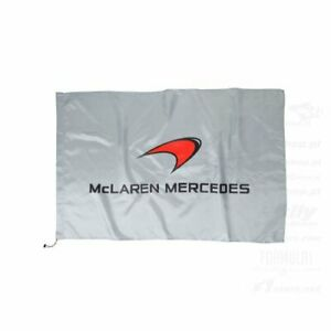 MCLAREN F1 TEAM 2014 SEASON FLAG MCLAREN MERCEDES SILVER ONLY £3.99