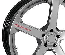 6 x Chevrolet Aufkleber für Felgen Camaro SS Corvette Captiva Aveo Emblem Logo R