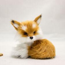 Furry Gold Fox Christmas Ornament Decor Adornment Simulation Fur Dolls House