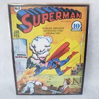 "SUPERMAN #8 1941 VINTAGE DC COMICS SERIES 11""X14"" POSTER PRINT"