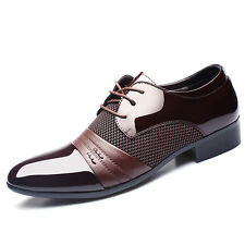 Men's Smart Oxford Leather Pointed Toe Business Formal Office Work Wedding Shoes