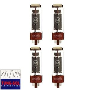 Brand New Tung-Sol Reissue EL34B Plate Current Matched Quad (4) Vacuum Tubes
