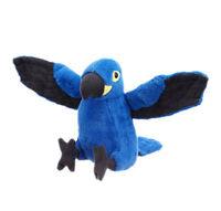 "Parrot Bird Macaw Blue soft plush toy 8""/20cm stuffed animal Wild Republic NEW"