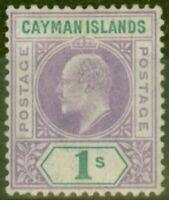 Îles Caïmans 1907 1s Violette & Vert SG15a Cabossé Cadre MTD Excellent État