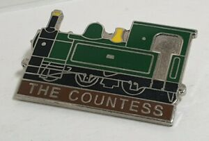 PEARSE COUNTESS TRAIN PIN BADGE LAPEL BROOCH LOCOMOTIVE VINTAGE COLLECTABLE