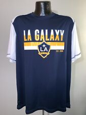 Men's MLS Soccer Los Angeles Galaxy White & Blue Polyester Graphic Logo Shirt XL