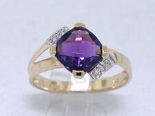 Amethyst Ring 585 Gelbgold 14Kt Gold natürlicher Amethyst und Brillanten