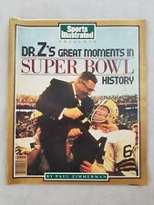 Sports Illustrated Dr. Z's Great Moments Super Bowl History Paul Zimmerman 1989