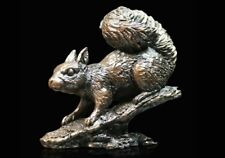 Red Squirrel Solid Bronze Foundry Cast Sculpture Keith Sherwin [977]