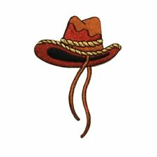 d599bb7cea90a ID 0577 Western Cowboy Hat Patch Ten Gallon Rodeo Embroidered Iron on  Applique