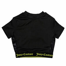 Infant Girls Juicy Couture Juicy Swim T-Shirt In Black- Elasticated Hem And