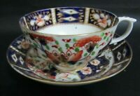 ANTIQUE ROYAL CROWN DERBY 2451 IMARI PATTERN TEA CUP & TEA BOWL - C1806-1825