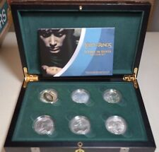 2003 New Zealand Lord of the Rings Silver $1 SCENES IN SILVER 6 COIN SET HOBBIT