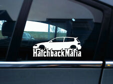 Lowered HATCHBACK MAFIA sticker - for HONDA CIVIC EG , Si / VTi - JDM