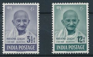 [31340] India 1948 Gandhi Two good stamps Very Fine MNH