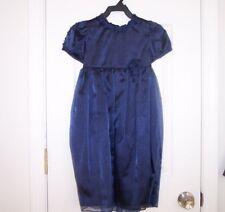 Vintage Girls JESSICA McCLINTOCK  5 Navy Short Sleeve Formal Flower Girl Dress