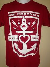 SLEEPING WITH SIRENS 2013 MEDIUM  t shirt EMO  ROCK OUT OF PRINT