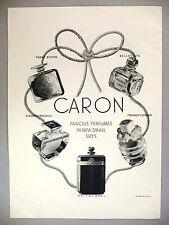 Caron Perfume PRINT AD - 1938