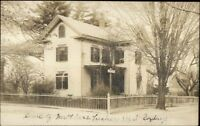 West Roxbury MA 33 Garden St. Home c1910 Real Photo Postcard