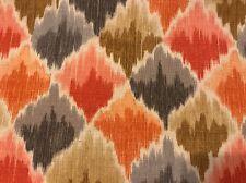1 Yd Vintage Waverly Fabric Baroque Bargello Screenprint Dry Clean Orange