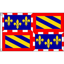 Burgundy Flag 5ft X 3ft France French Region County Banner