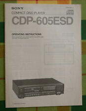 User manual / Notice/ Mode d'emploi SONY CDP-605ESD (English)