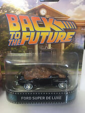 1/64 Hot Wheels Retro Time Machine  Back To The Future Ford Super De LUXE