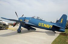 Grumman F8F-2 Bearcat Airplane Desktop Wood Model Regular