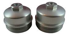 6.4L Powerstroke 2pc Billet Aluminum Cap Kit - Oil and Secondary Fuel Filters