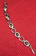 "LCI Liz Claiborne Silver-Tone with Gold- & Black-tone Stone 7 1/4"" Bracelet NWOT"