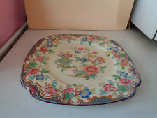 "Antique Ridgways ""Simlay"" Hand Painted Square Plate."