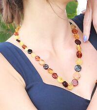 Genuine Baltic Amber Collana. 100% naturale Ambra Rotonda Perline Collana