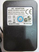 UK 12Vac 12V Mains AC Adaptor Linear Power Supply 5.5mmx2.1mm/2.5mm for 1.2A