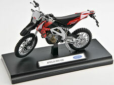 BLITZ VERSAND Aprilia RXV 450 rot / red Welly Motorrad Modell 1:18 NEU & OVP