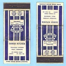 VINTAGE USED MATCHBOOK COVER - CENT-A-PAK / DANISH KITCHEN, TORONTO, CANADA