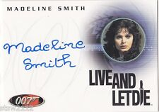 JAMES BOND QUOTABLE 40TH STYLE A49 MADELINE SMITH MISS CARUSO AUTOGRAPH VL RARE