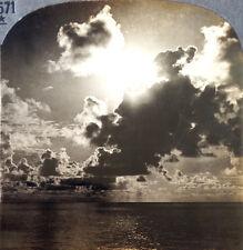 Keystone Stereoview of Equatorial Sunrise, JAVA, D. E. I. from 1930's T600 Set