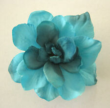 "2.5"" Turquoise Aqua Apple Blossom Silk Flower Hair Clip,Pin Up,Updo,Rockabilly"