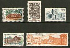 SERIE TIMBRES 2401-2405 NEUF XX LUXE - SERIE TOURISTIQUE DE 1986