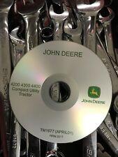 John Deere 4200 4300 4400 Compact Utility Tractor Service Repair Manual TM1677CD