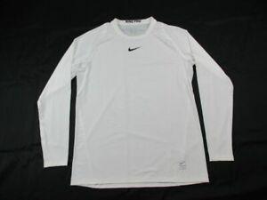 Nike Long Sleeve Shirt Men's White Poly NEW Multiple Sizes