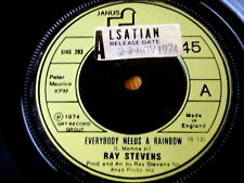 "RAY STEVENS - EVERYBODY NEEDS A RAINBOW  7"" VINYL"
