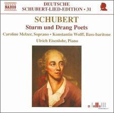 Schubert: Sturm und Drang Poets (CD, Apr-2009, Naxos) NEW - FREE S&H