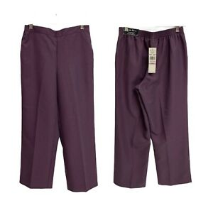NWT Alfred Dunner Classic Fit Purple Proportioned Short Pants Women's 6P (G-1K)