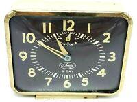 Vintage Ingraham Sentry 8 Day Square Alarm Clock The E. Ingraham Co. USA