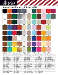Angelus Matt Schwarz (101) Acryl Lederfarbe 118ml (105,93€/1L) Leder färben