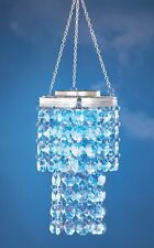 Solar Powered Lighted Crystal Chandelier Porch Patio Tree Dangler