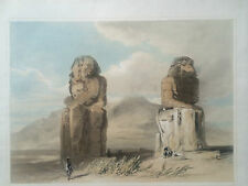 H PILLEAU 1845 Folio H/C Lithograph EGYPT Colossi of Memnon Scarce!